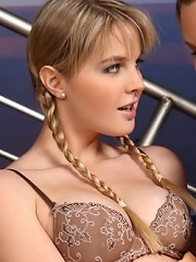 Luscious blondes tongue pink quims