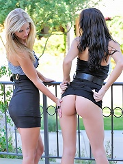Kirsten and Natalie play in public
