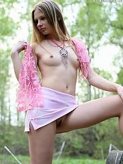 Teen girl in pink
